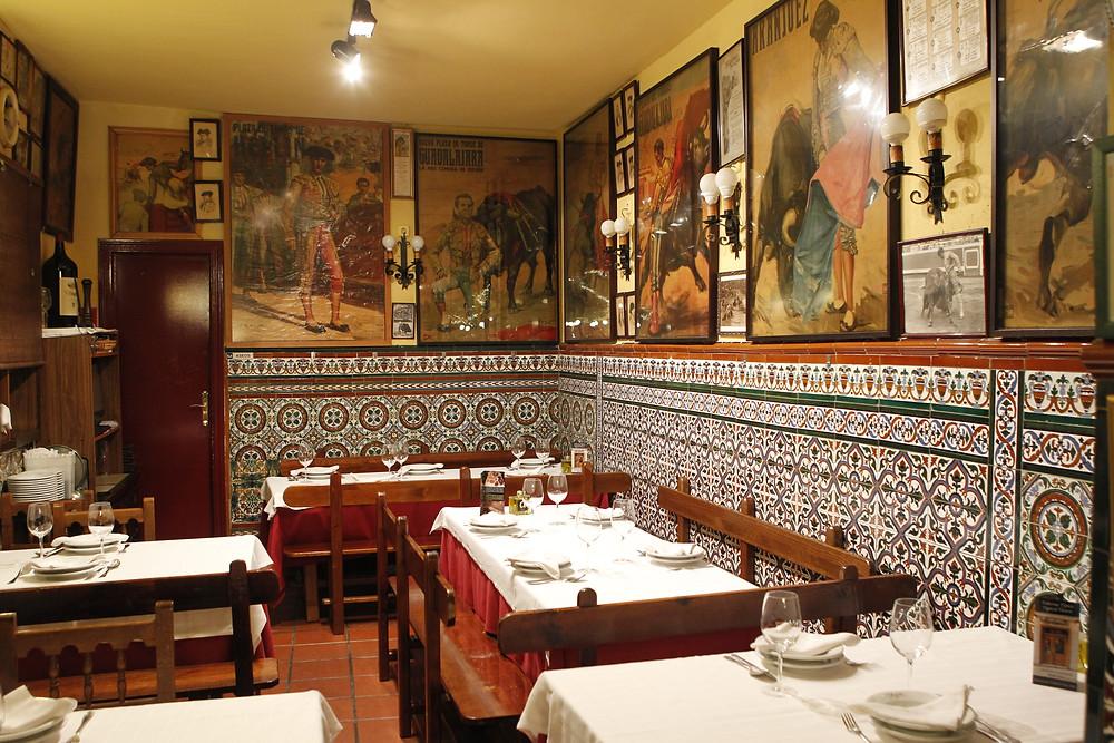 Comedor del restaurante Malacatín.
