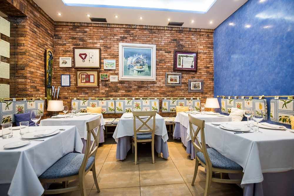 Comedor del restaurante La cocina de María Luisa.