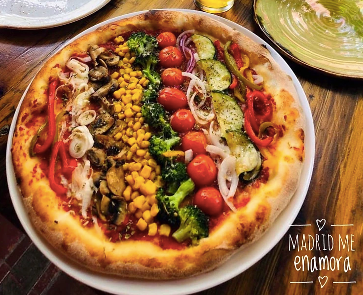 Pizza vegetariana de Bizzo.