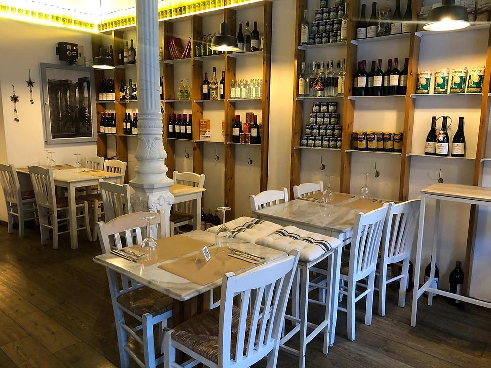 Comedor del restaurante Madrid Kritikos.