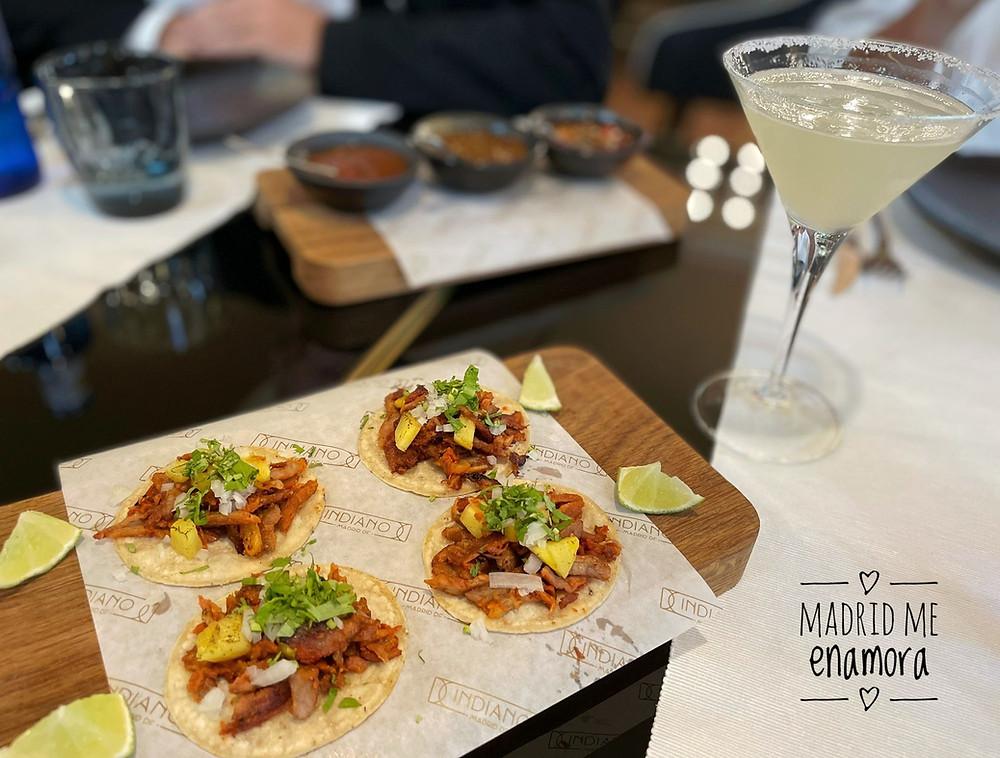 Si te gustan los tacos, tienes que probar los de Indiano Madrid México.