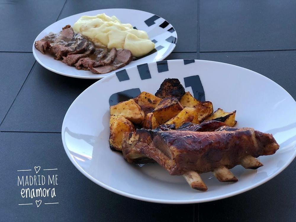 Las costillas y el roast beef son dos de las especialidades de Lafita Catering.