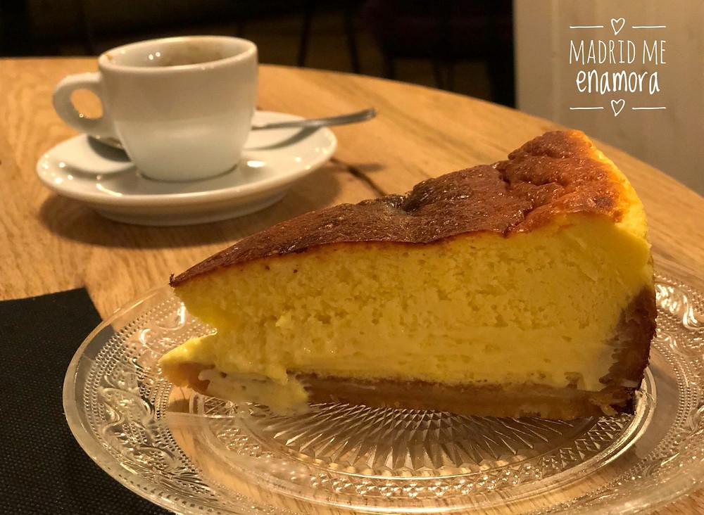 Tarta de queso homenaje a La Viña de San Sebastián.