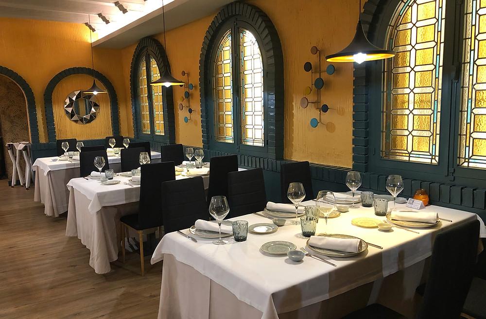 Comedor del restaurante Nebak Madrid.