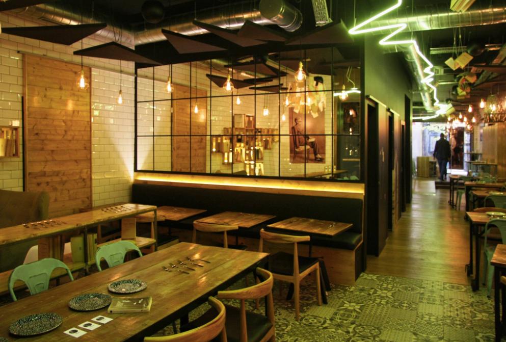 Inclán Brutal Bar, restaurante recomendado en Madrid por www.madridmeenamora.com