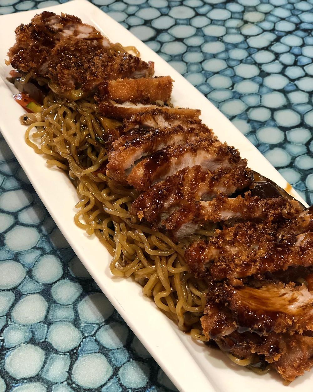 Los yakisoba con pato fueron el perfecto punto final a una gran comida.