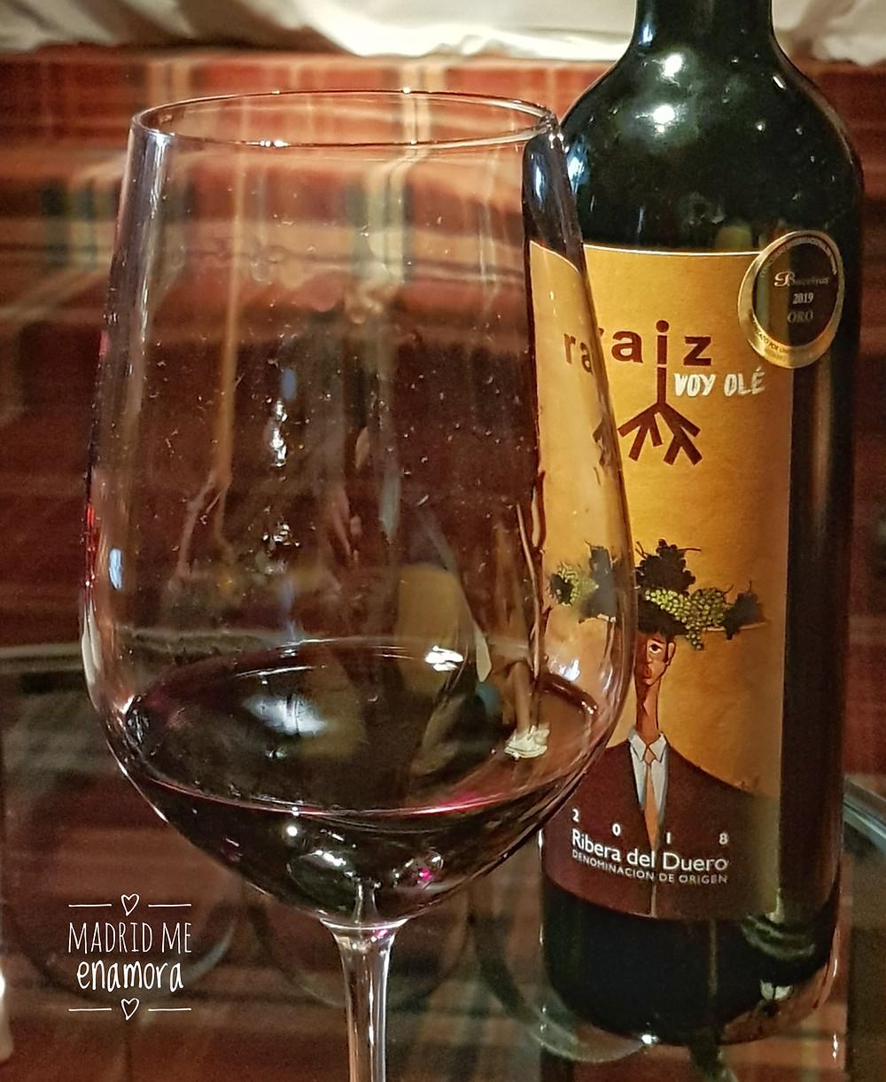 Raíz Voy Olé, vino recomendado por www.madridmeenamora.com
