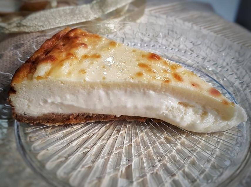 Tarta de queso de Tres por cuatro.