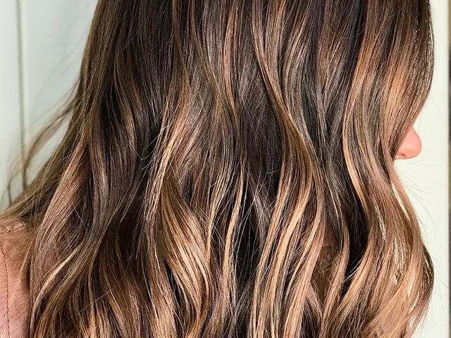 👉🏼👉🏼Swipe for the before👉🏼👉🏼 balayage highs and lows for fall 🍂