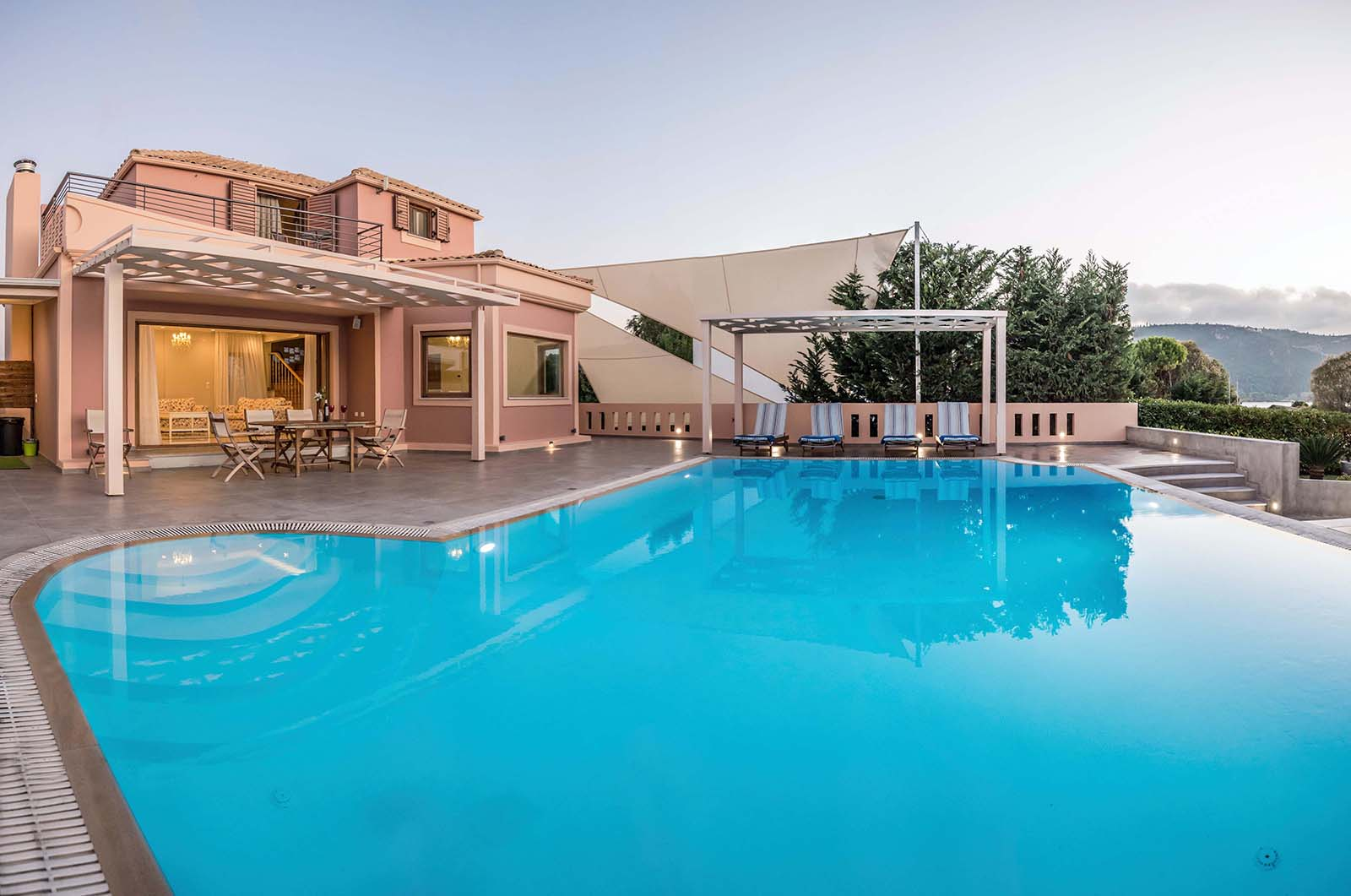 Agios Ioannis Villas pool view facing vi
