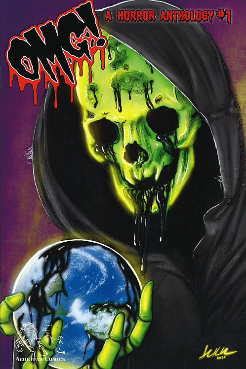 """OMG! A Horror Anthology"" Issue #1 Trade Cover Book"