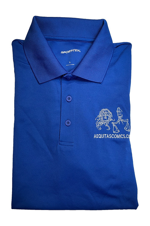 Blue Polo Aequitas Shirts