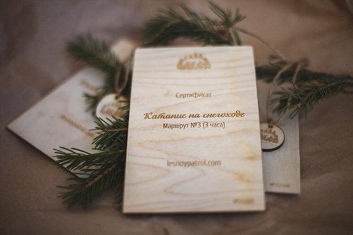 Сертификат. Катание на снегоходе. Маршрут №3 (3 часа)