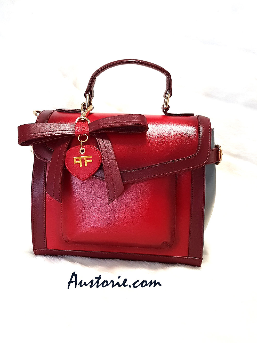 Lucky Bow Bag Ruby Red