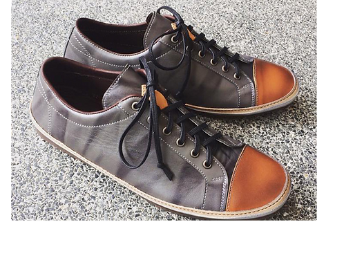 BRUNO Sneakers - Grey with Stripe