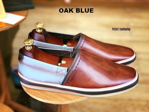 Summer Slip-ons: Oak Blue