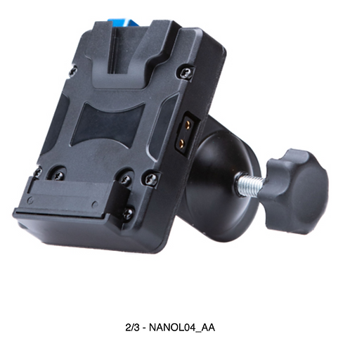 NANOL04  V-lock Plate with with U-type clip, fit for any size rod