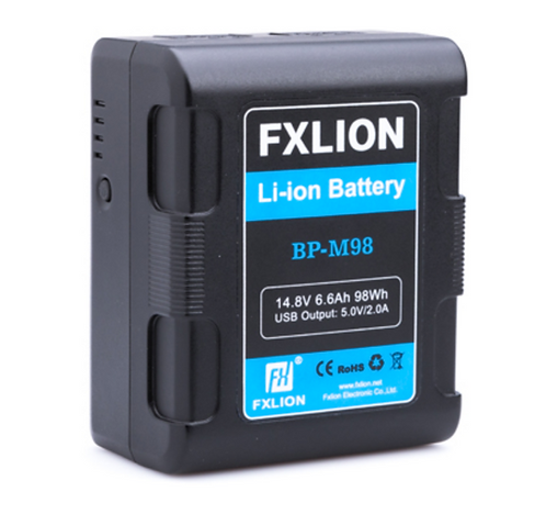 BP-M98  Square V mount battery,14.8V,6.6Ah/98Wh; with two D-tap