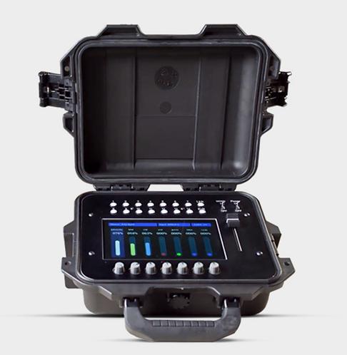 Konsola GAFFERS CONTROL do bezprzewodowego sterowania lampami LED przez DMX.