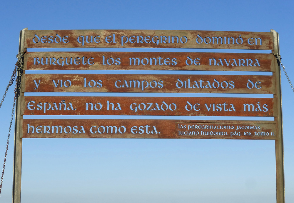 Spanish sign on Camino, the way
