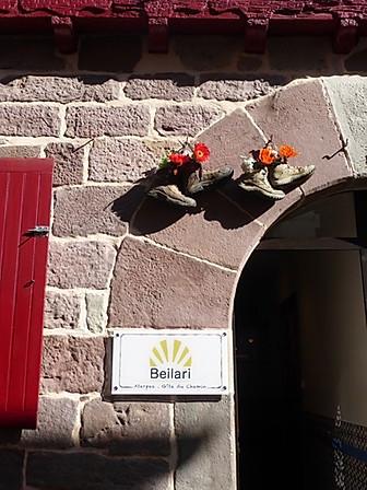 Camino Pilgrim Shoes over hostel