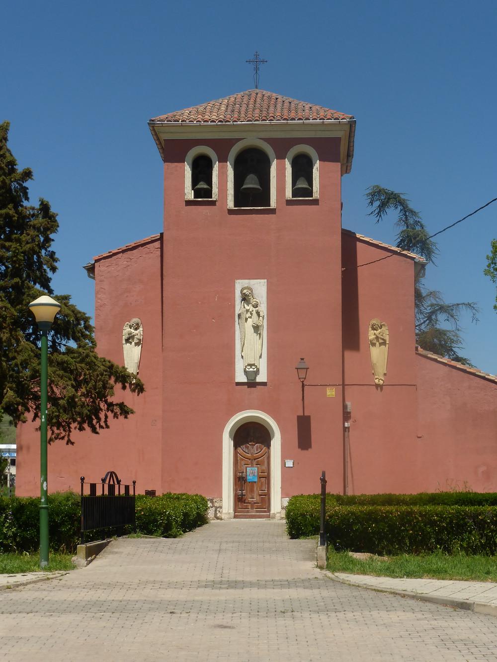 Camino Church Front outside Burgos, Spain