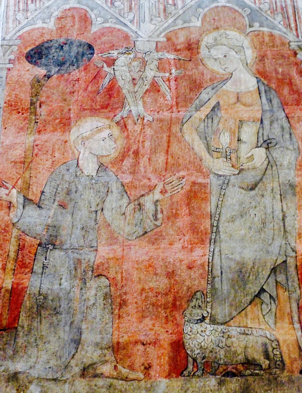 Mural in Burgos, Spain Cathedral