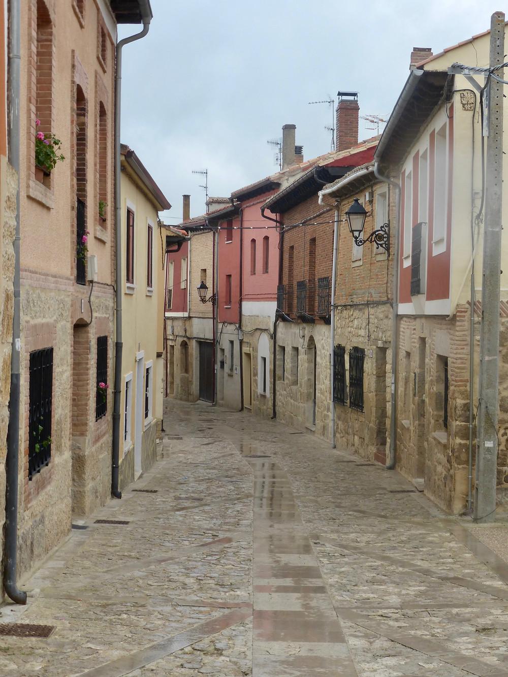Castrojeriz's village main road
