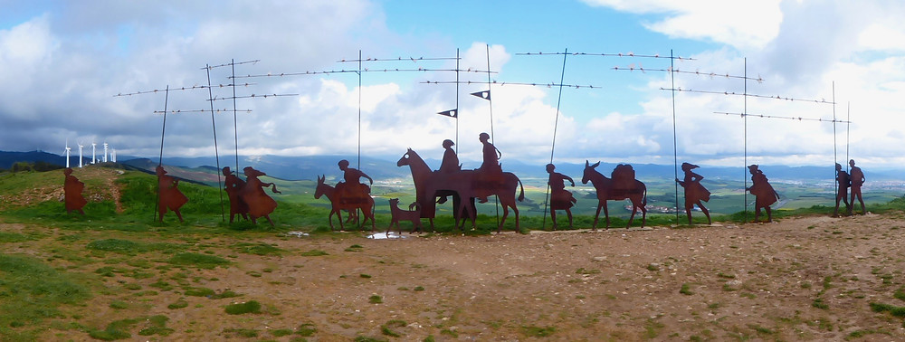 """"""" Where the way of the wind crosses the way of the stars"""", Camino de Satiago sculpture"""