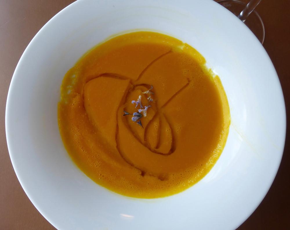 Spanish pumpkin soup, Camino lunch, soup on the Camino de Santiago