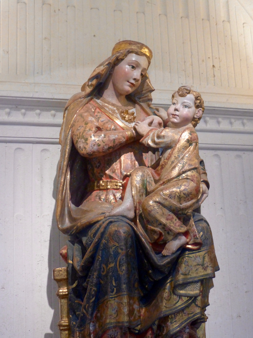 Statue of Mother breastfeeding child in Burgos Cathedral