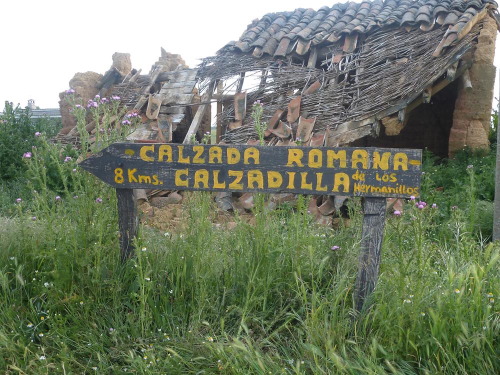 road sign on the Camino de Santiago