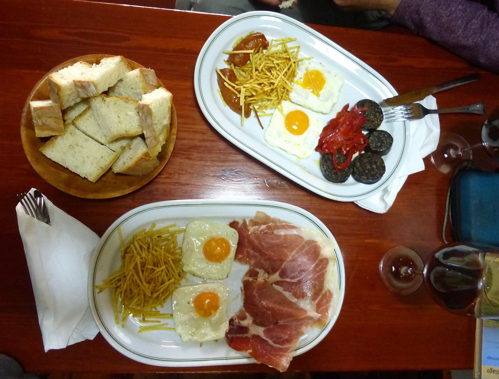 Typical Spanish Breakfast, camino meal