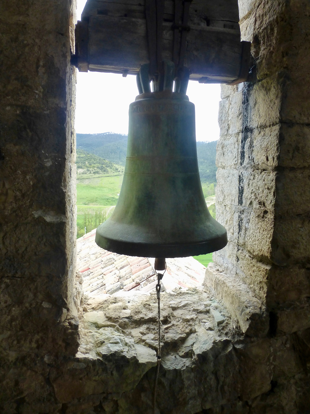 Church bell tower on Camino de Santiago
