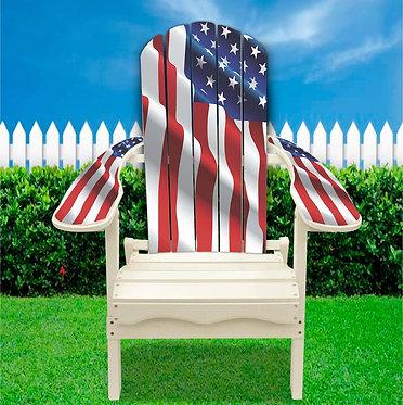 Patriotic Adirondack Chair wrap