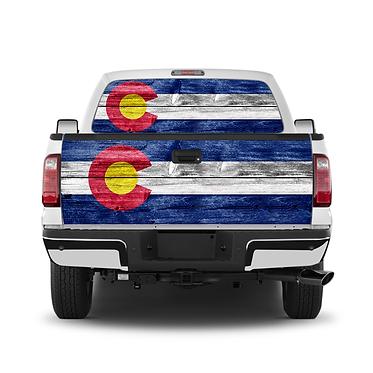 Rustic wood Colorado Flag