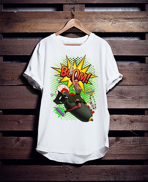 Retro Woman Rocket 7 Tshirt