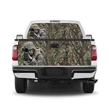 Sniper Camo Tailgate Wrap Window Decal