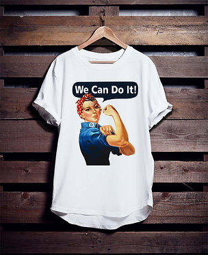 We Can Do It Woman Retro Tshirt