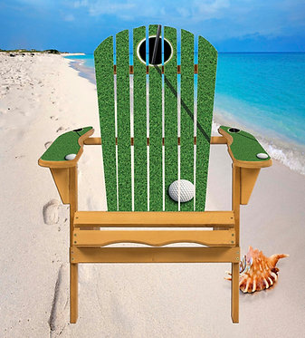 On the Green Golf Adirondack Chair Wrap Decal