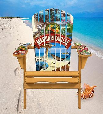 Beach Parrot Hammock Adirondack Chair Wrap Decal