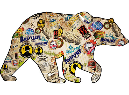 North Carolina Beer Bear Vinyl Decal