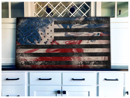 United States Stain Flag Art - Free Shipping