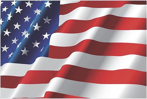 Waving American Flag Vinyl Decal