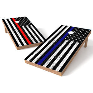 Blueline Flag Nurse Flag Cornhole Wrap Decal