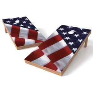 American Flag Cornhole Wrap Decal