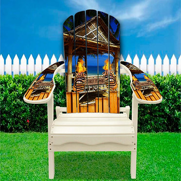 Tiki Time Adirondack Chair Wrap Decal