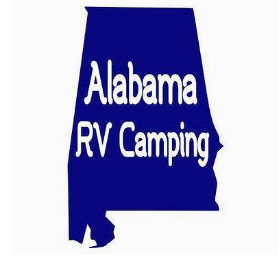 "Alabama RV Camping Decal 6"""