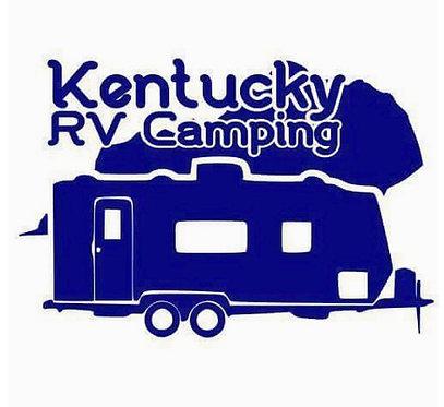 "Kentucky RV Camping Travel Trailer Decal 6"""