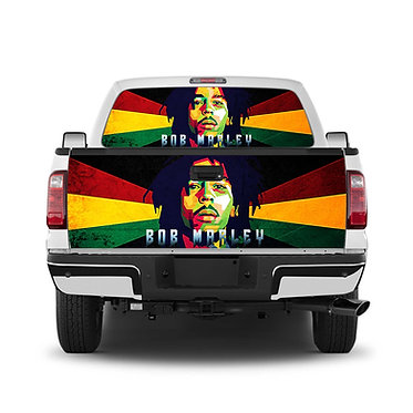 Bob Marley 2 Tailgate Wrap Window Decal